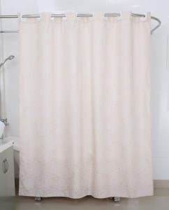 Freelance PVC White Solid Eyelet Shower Curtain