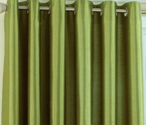 e4c907775d13 Achintya Polyester Green Plain Eyelet Window Curtain152 cm in Height