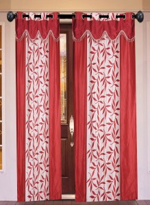 New Ladies Zone Polyester Red Floral Curtain Door Curtain