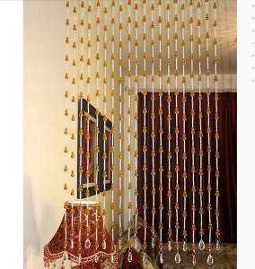 rasmy home decors pvc white golden self design ring rod door curtainrasmy home decors pvc white, golden self design ring rod door curtain
