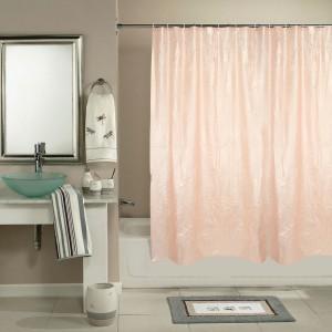 Katwa Clasic PVC Peach Self Design Curtain Shower