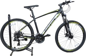 Longhorn Black Cat 26 Inches 24 Speed LHBC26BKGRN Mountain Cycle