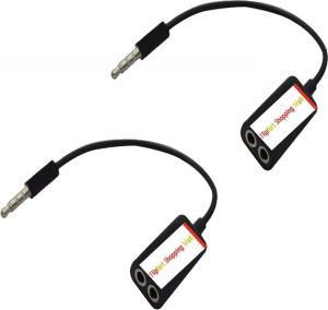 Flipfort Shopping Mall Universal 3.5 MM Pack of 2 Headphone Splitter