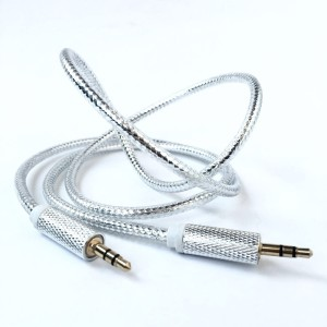 Fitfly Silver Shine AUX Cable