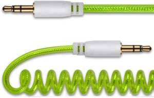 TechGear 3.5mm Curly Stereo Jack Audio Coiled AUX Cable