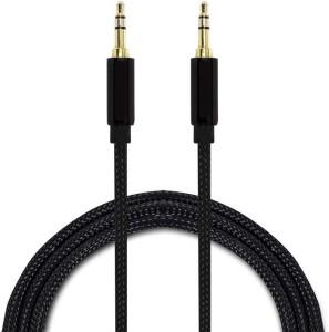 Trost Nylon Braidedauxillary 3.5mm BLK AUX Cable