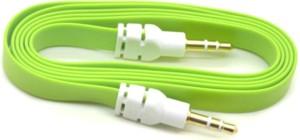 AutoKraftZ Premium Flat Style Aux Cable (Assorted Color) for Maruti Wagon-R type 3 AUX Cable