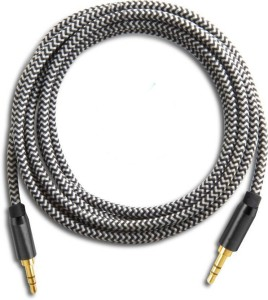 Trost Nylon Braided auxillary 3.5mm jack GR AUX Cable