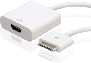 Outre 30 Pin Dock Connector MALE TO FEMALE HDMI Adapter