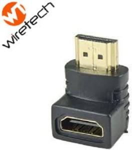 Wiretech HDMI Female to HDMI Male L Shaped Coupler HDMI Cable