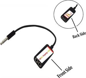 Flipfort Shopping Mall Universal 3.5 MM Audio Earphone Mic for All Mobiles, Tablets, PC, Laptop, iPod, Car Amplifier, Amplifier, CD and DVD Players Headphone Splitter