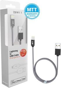 MTT Apple MFI Certified 2 Meter Nylon Lightning Cable