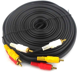 PAC 10 Meter 3 RCA Audio Video Cable