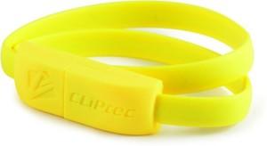 Cliptec OCC101YL, Wrist Bracelet Slim Flat USB2.0 to MICRO-B Cable(40CM, PVC)-Yellow USB Cable