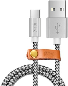 STA Nylon Braided Fast Charge & Data USB C Type Cable