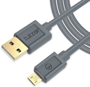 Tukzer Gold Plated (6.5 Feet/ 2 Meter) - High Speed, Quick Charge 2.4 Amp & Data Sync USB Cable