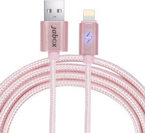 Jabox Premium Lightening With LED Charge Indicator USB Cable