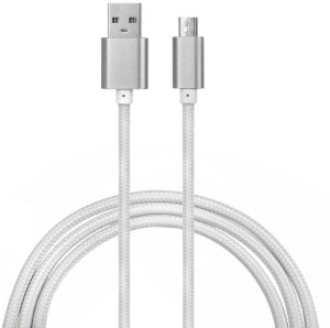 Lexel High Quality Metal Head Nylon Braided Fast Charging 1 Meter Long For All Smart Phone Like Samsung HTC Micromax etc. USB Cable
