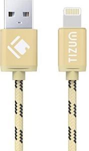 TIZUM 8 Pin Lightning (4.0 ft / 1.2 mtr) Premium Kevlar-Nylon Fiber, Fast Charging & Data Sync USB Cable