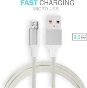 Czar Silicon Nylon micro USB cable 1.5 mtr USB Cable
