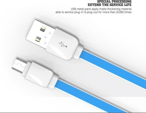 Axcess LDNIO xs 07A 1 meter Flat Micro Usb Data Charging and Charging 1 m Micro USB Cable