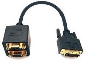 TechGear Dvi Male To Dual Splitter VGA Cable