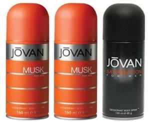 Jovan Musk Men And Satisfaction Body Spray   For Men