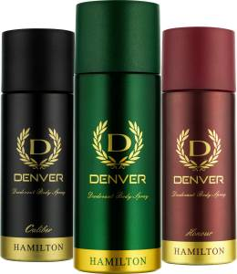 Denver Hamilton, Caliber and Honour Combo (Pack of 3) Deodorant Spray  -  For Men