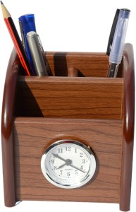 ee422939ae5 Urban Style Emporium 3 Compartments wood pen stand Brown Best Price ...