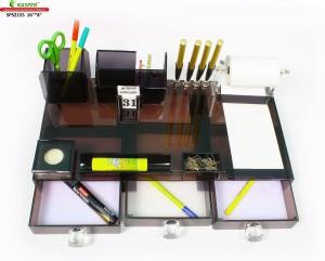 Rasper 8 Compartments Multipurpose Acrylic Office Desk Pen Stand