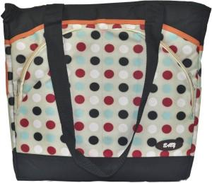 Babysid Collections Nappy Bag- Polka- L- 35cm, W- 13cm, H-34cm Hand Shoulder Bag