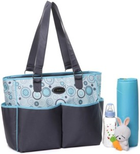 Colorland Flower Polyester Tote Diaper Bag