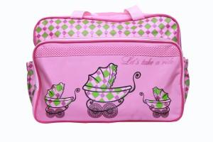 Kiwi Baby Pink Cot Print Diaper Bag