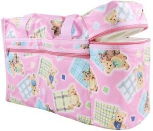 Wishkey Premium Multi Purpose Teddy Bear Printed Pink Nursery Bag