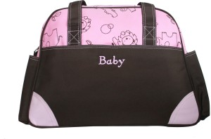Kiwi Pink Brown Elephant Diaper Bag