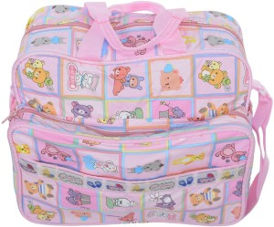 Kidzvilla Mother Bag Medium Size Pink Color Backpack Diaper Bag
