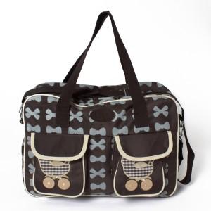 Stuff Jam Diaper Gray Bows Nursery Bag