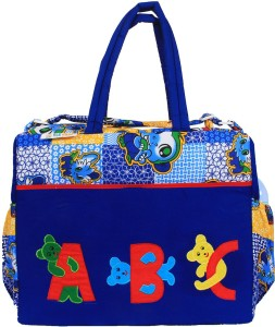 Ole Baby Big Amazing Striped Cotton Smart Organizer Best Material 100% Cotton, Multi-function Tote Diaper Bag