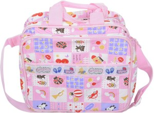 Kidzvilla Mother Bag Small Size Pink Color Backpack Diaper Bag