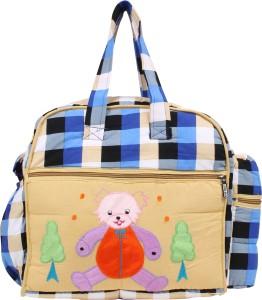 GoAppuGo Blue Checks Mother Baby Small diaper bag