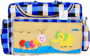Ole Baby Big Amazing Striped Smart Organizer Best Material 100% Cotton Tote Diaper Bag