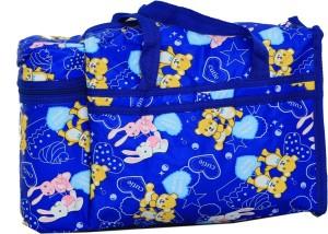 Kuber Industries Diaper Baby Bag , Feeder Bag , Nappy Changing Bag , Mamma's Bag (Cutie Bunny Print- Blue) Diaper Bag
