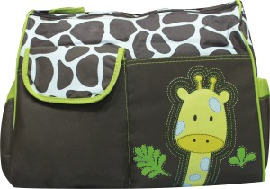 Kiwi Giraffe Print Diaper Bag