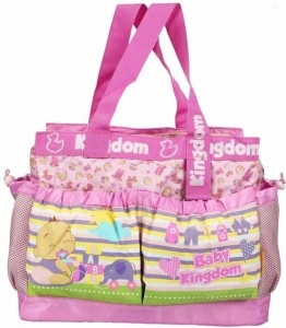 Wishkey Premiun Pink Large Printed Nursery Bag