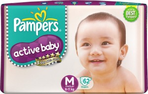 Pampers Active Baby Diapers - M