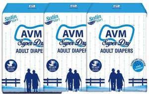 Avm Super Dry Adult Diapers Regular - L