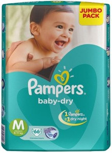 Pampers Baby Diapers - M