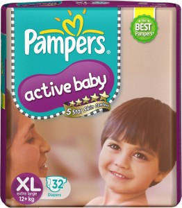 Pampers Active Baby Diapers - XL