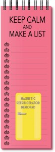 Nourish Keep Calm And Make A List Peach Magnetic Note Pads