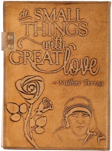 Hare Krishna Handicrafts Regular Diary Mother Teresa Quote Emboss